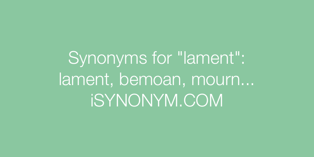 Synonyms lament
