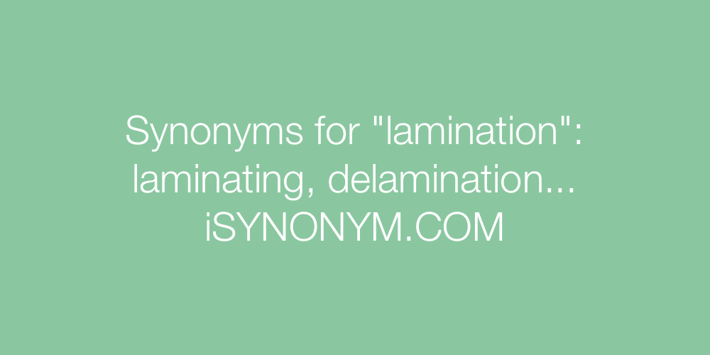 Synonyms lamination