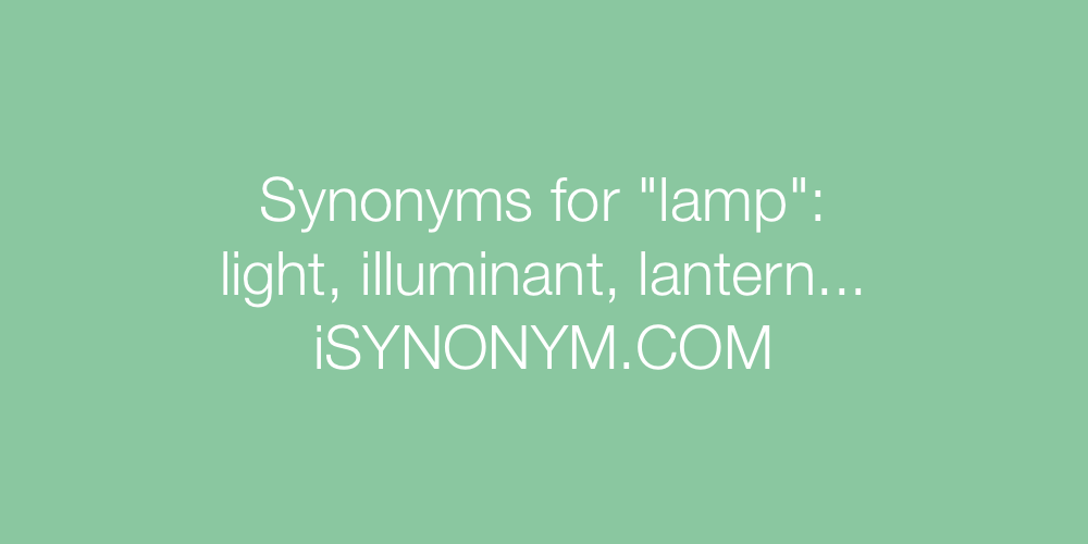 Synonyms lamp