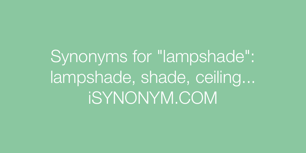 Synonyms lampshade