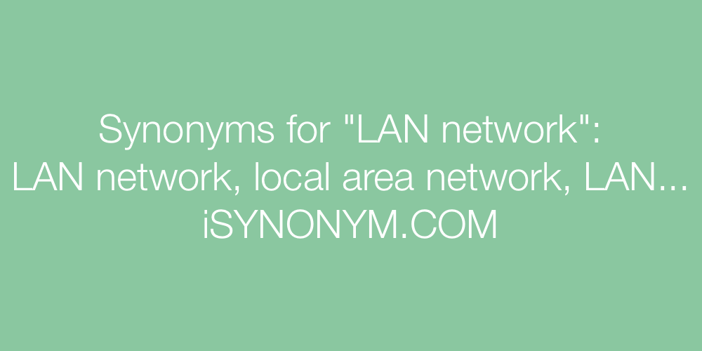 Synonyms LAN network