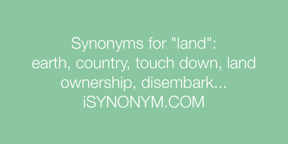 Synonyms land