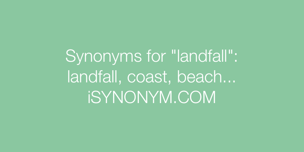 Synonyms landfall