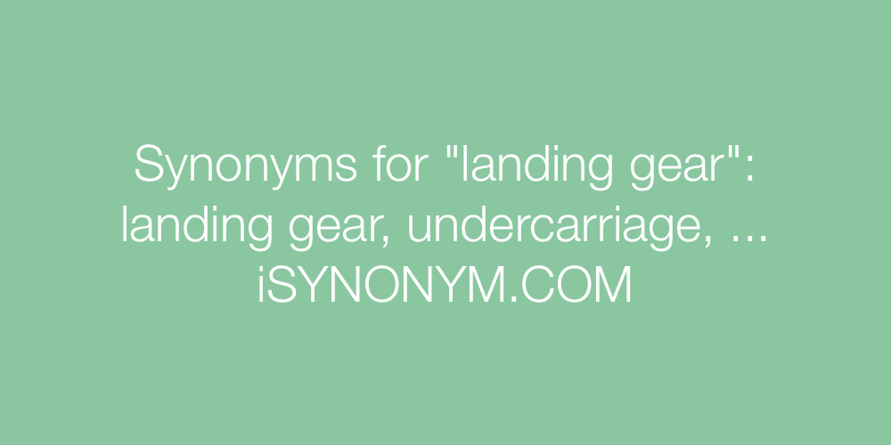 Synonyms landing gear