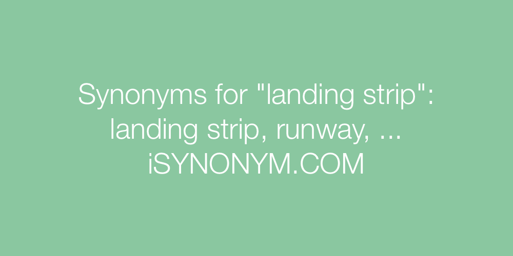 Synonyms landing strip