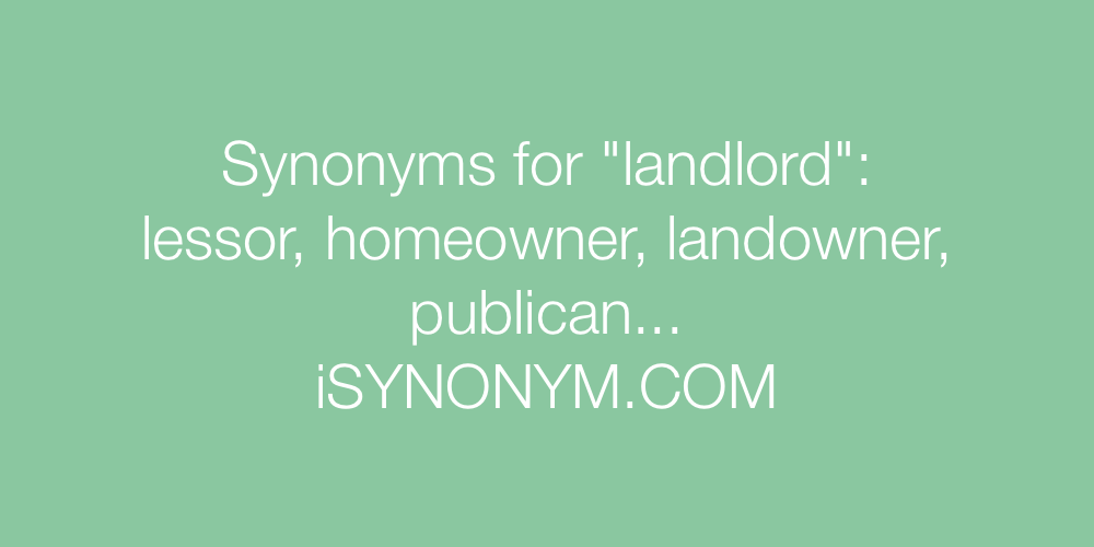 Synonyms landlord