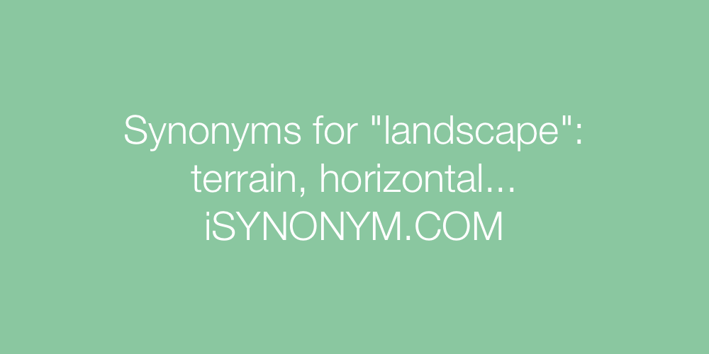 Synonyms landscape