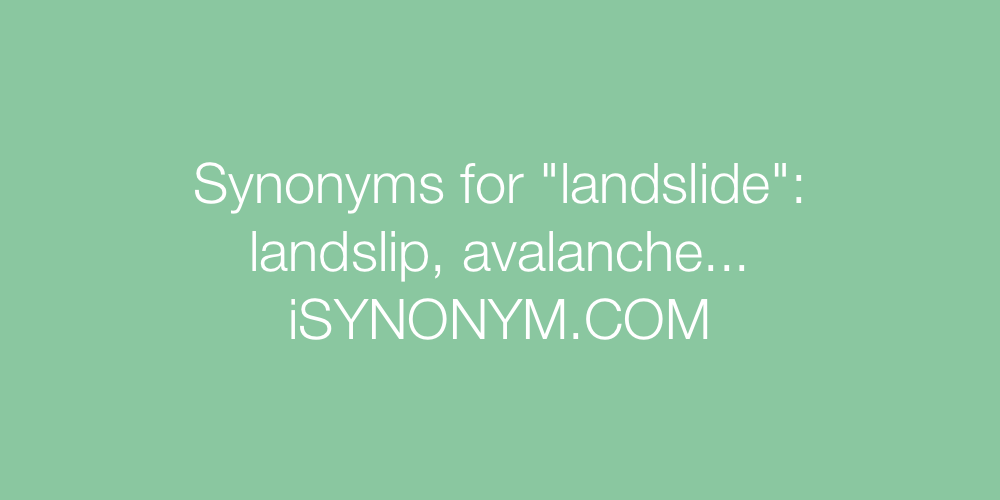 Synonyms landslide