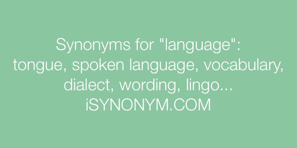 Synonyms language