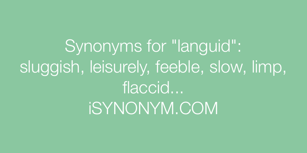 Synonyms languid
