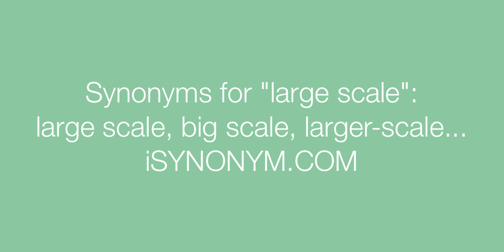 Synonyms large scale
