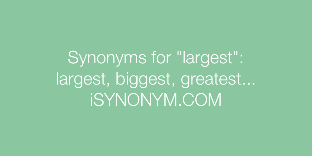 Synonyms largest