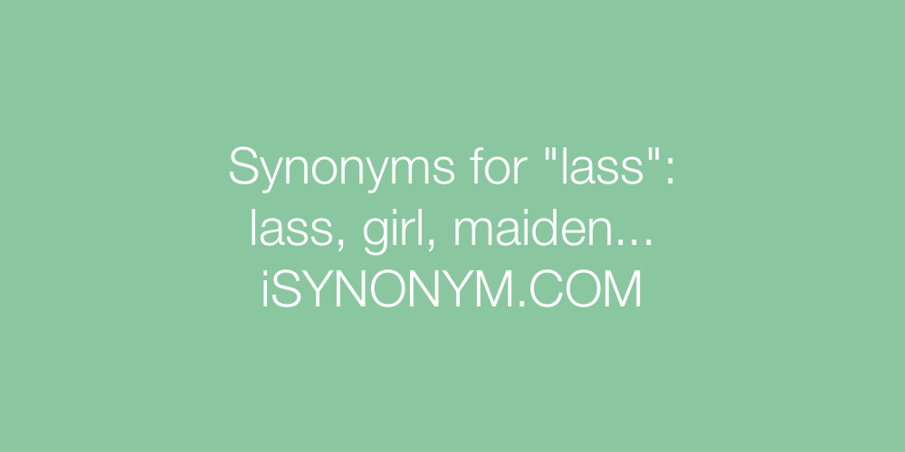 Synonyms lass