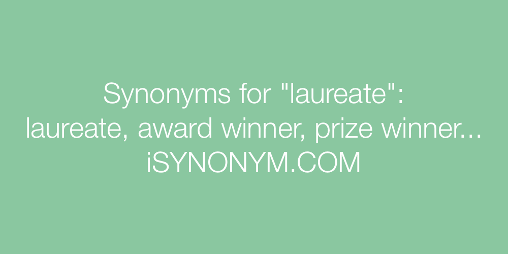 Synonyms laureate