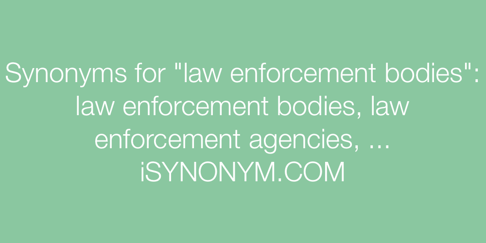 Synonyms law enforcement bodies