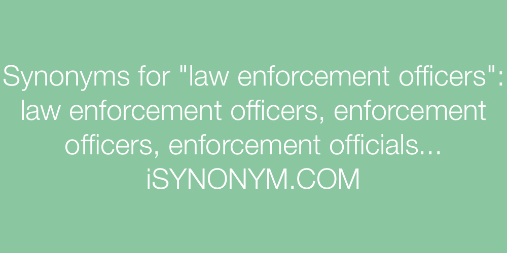 Synonyms law enforcement officers