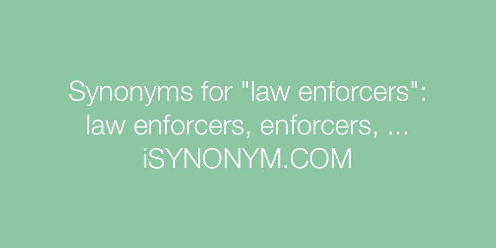 Synonyms law enforcers