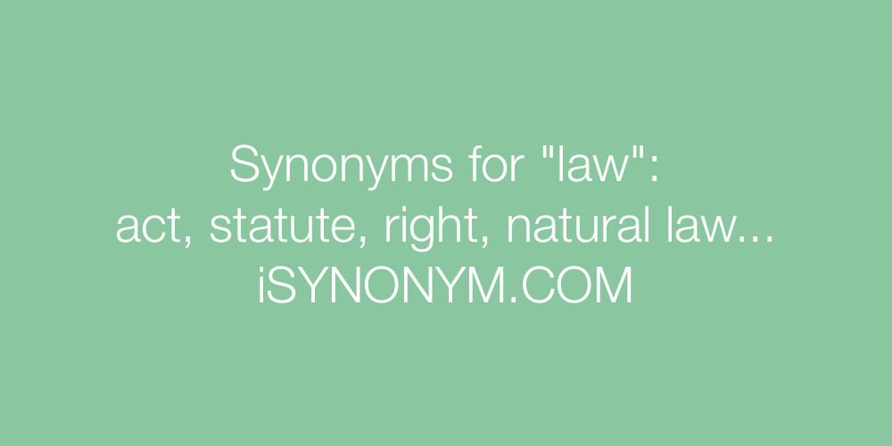 Synonyms law