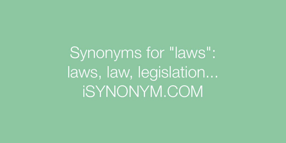 Synonyms laws