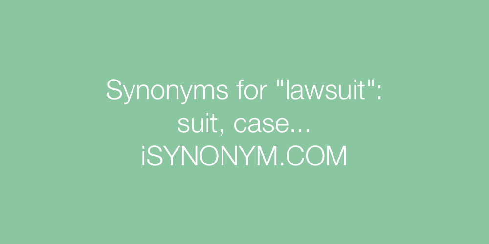 Synonyms lawsuit