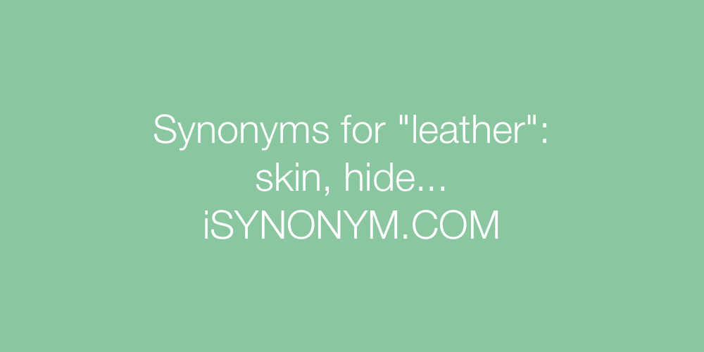 Synonyms leather