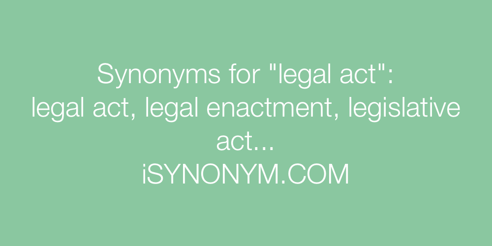 Synonyms legal act