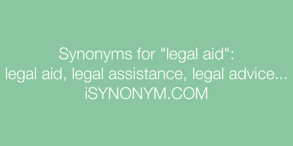 Synonyms legal aid