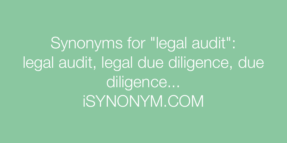Synonyms legal audit