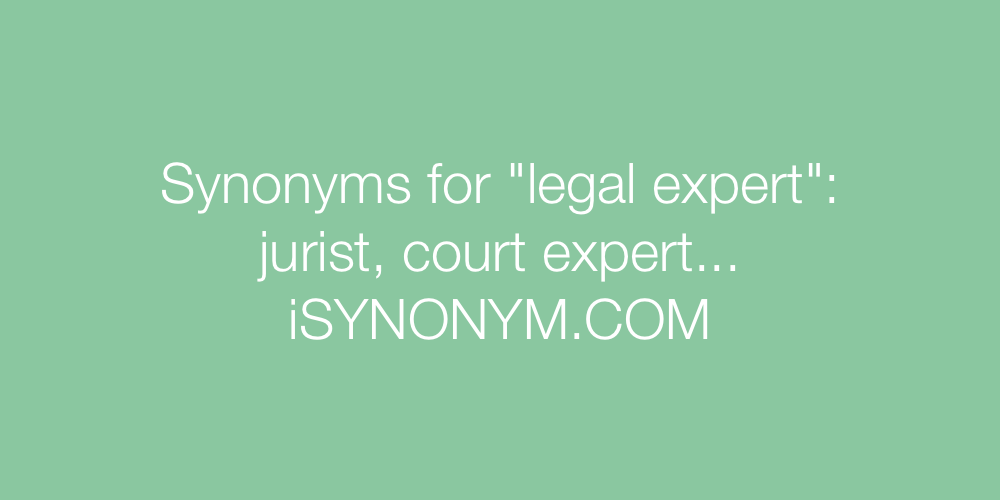Synonyms legal expert
