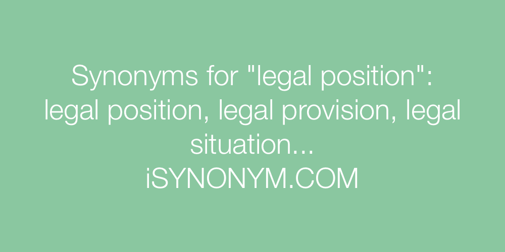 Synonyms legal position