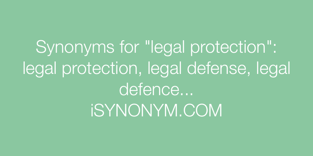 Synonyms legal protection