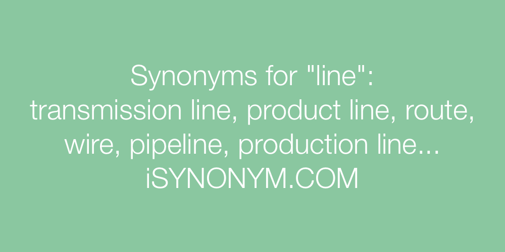 Synonyms line