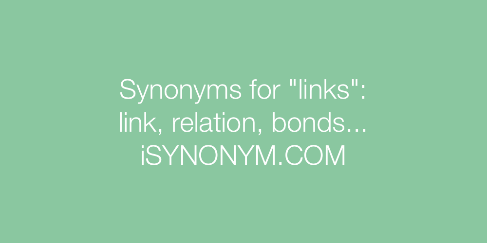 Synonyms links