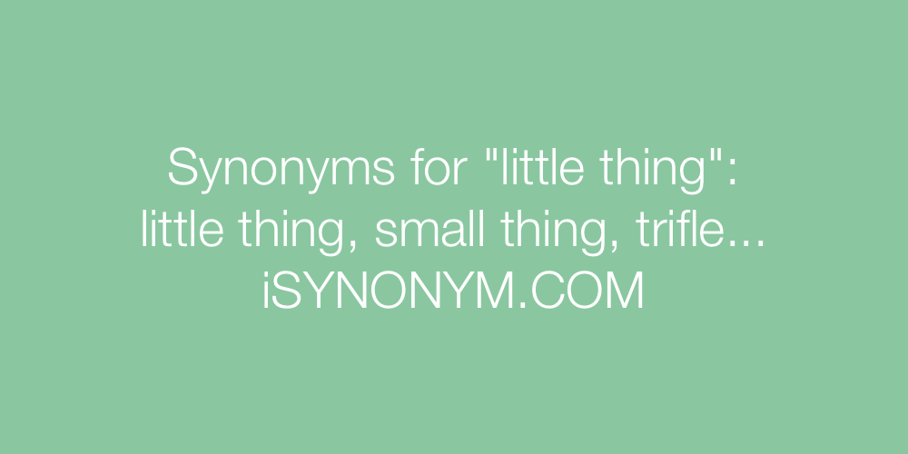 Synonyms little thing