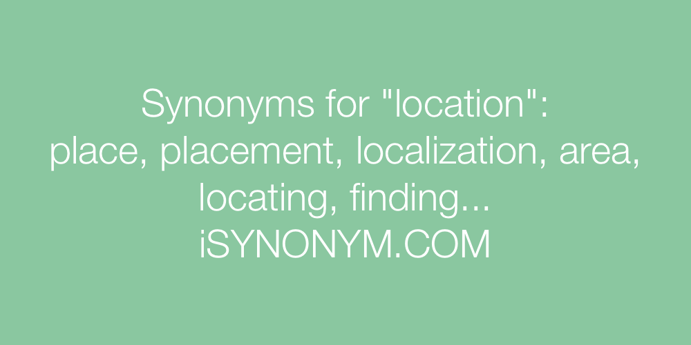 Synonyms location