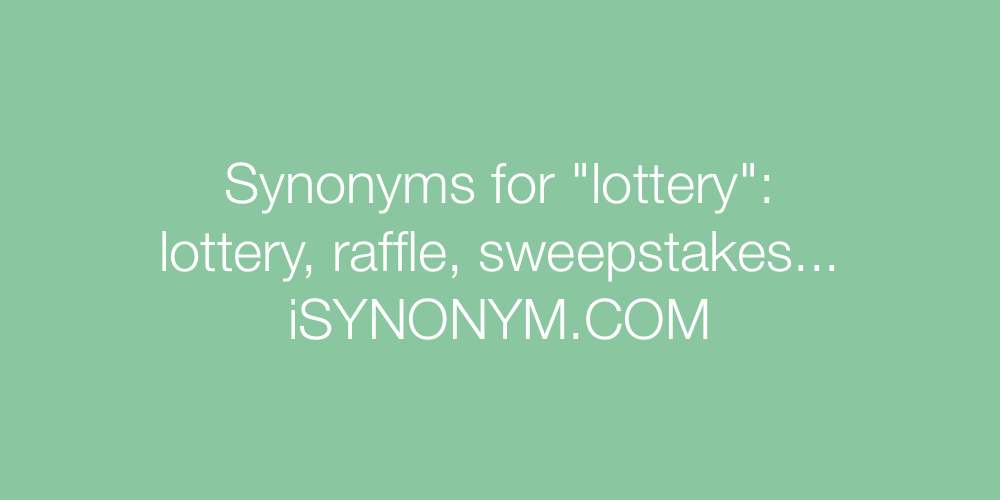Synonyms lottery