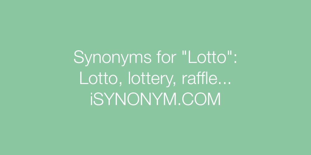 Synonyms Lotto