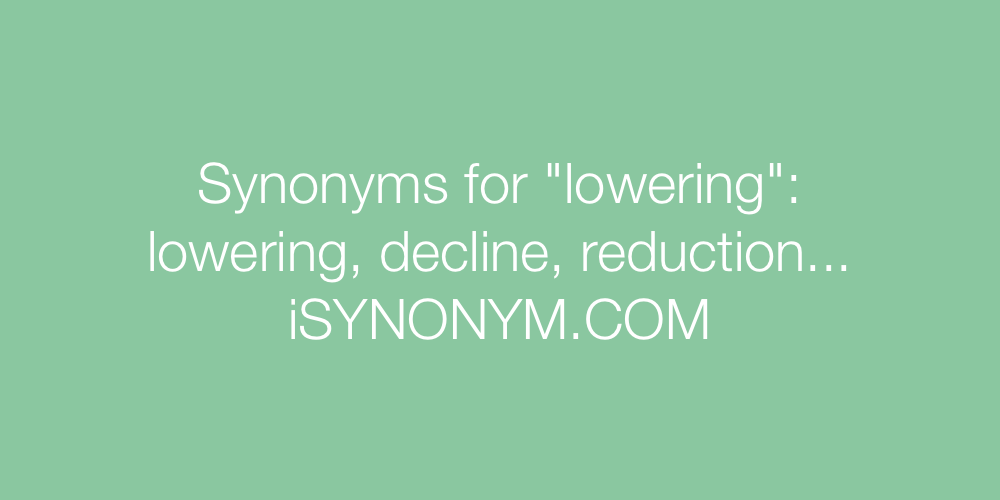 Synonyms lowering
