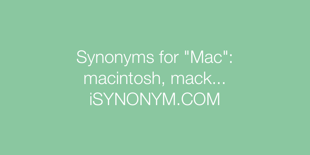 Synonyms Mac