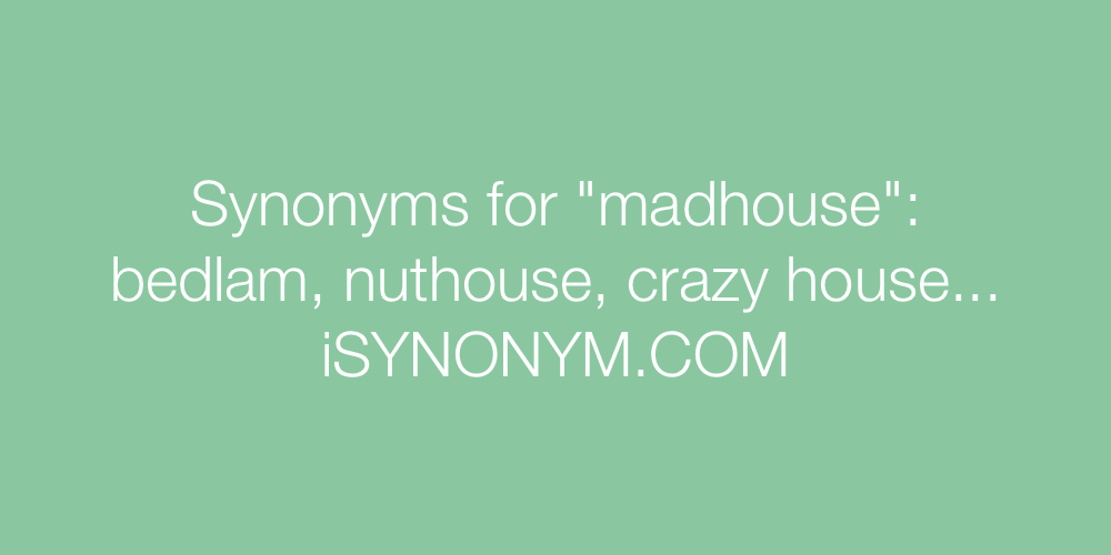 Synonyms madhouse