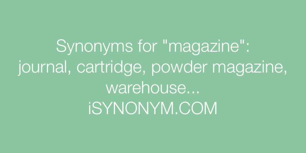Synonyms magazine