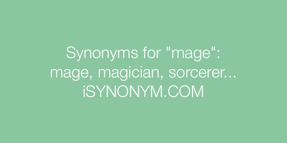 Synonyms mage
