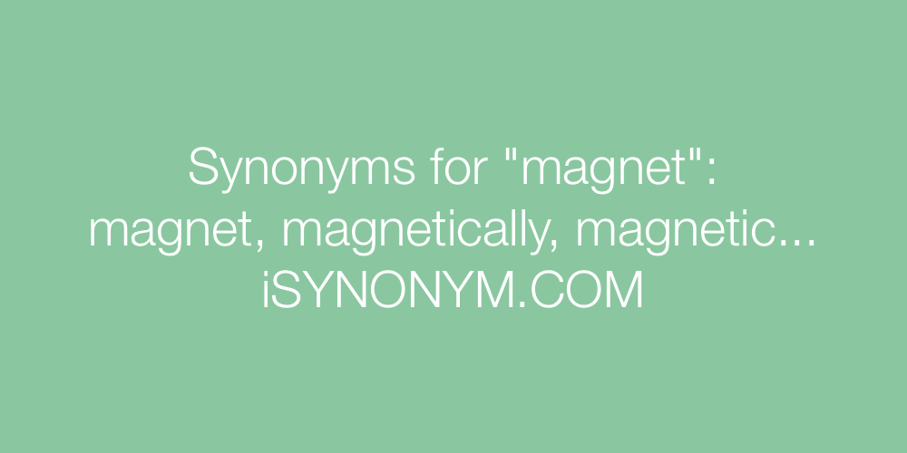Synonyms magnet