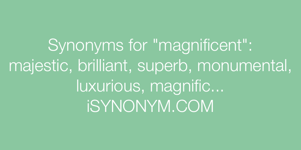 Synonyms magnificent