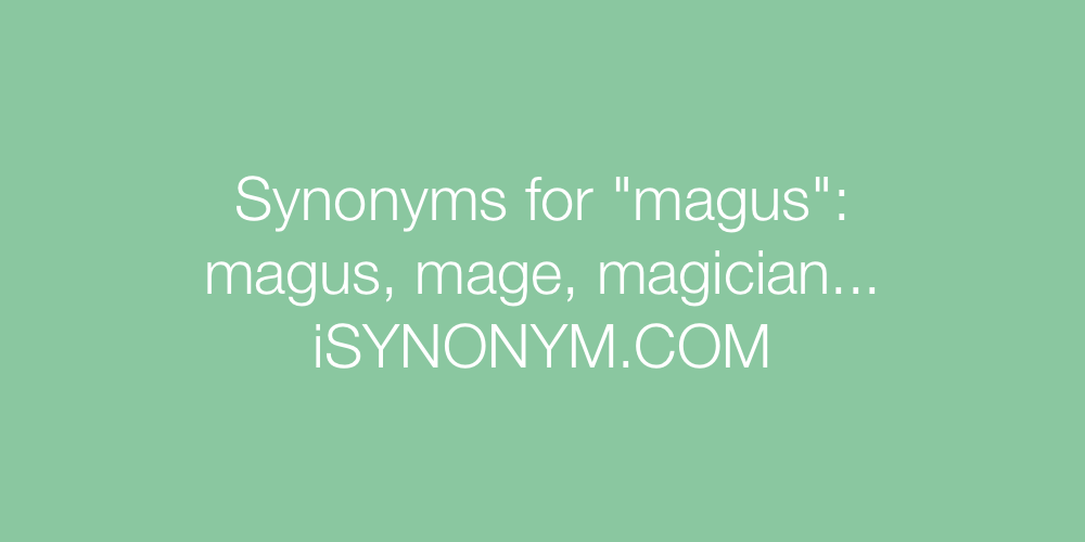 Synonyms magus