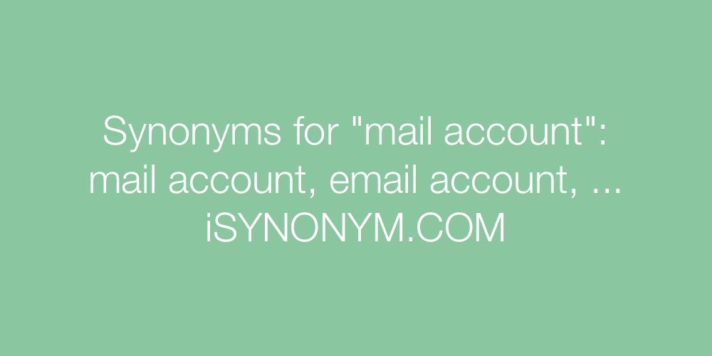 Synonyms mail account