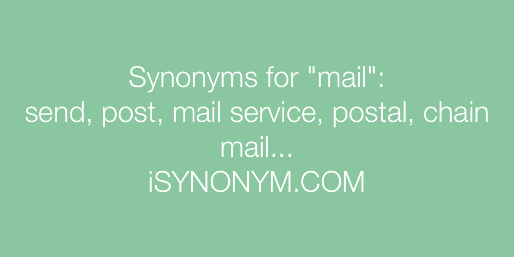 Synonyms mail