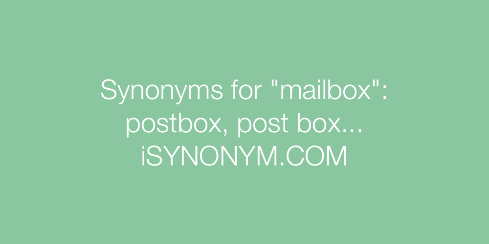 Synonyms mailbox