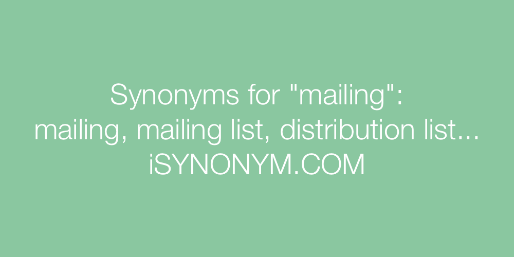 Synonyms mailing