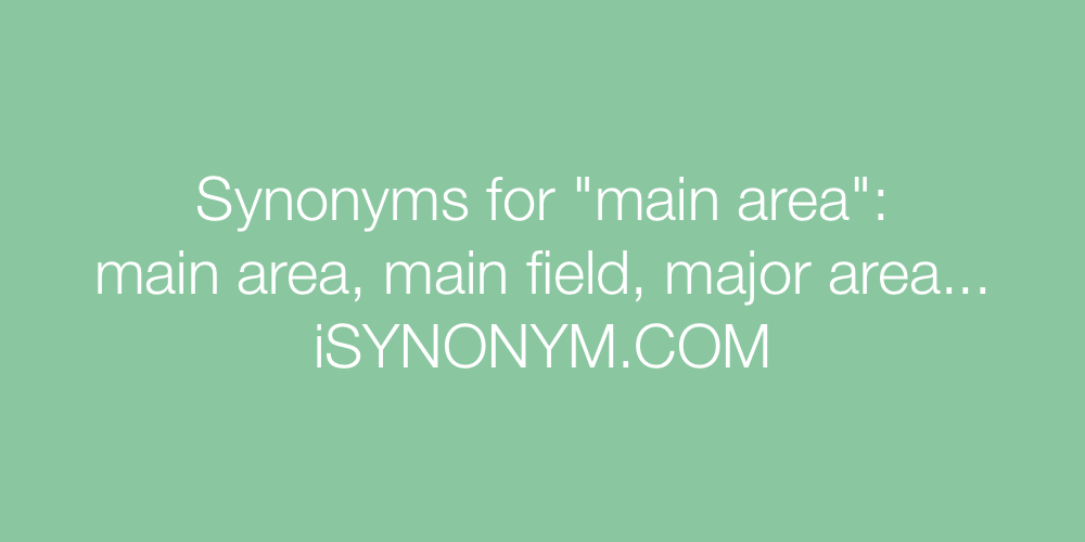 Synonyms main area